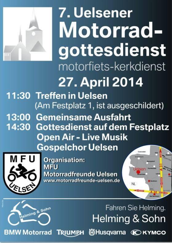 Poster Uelsen Motorradgottesdienst 2014