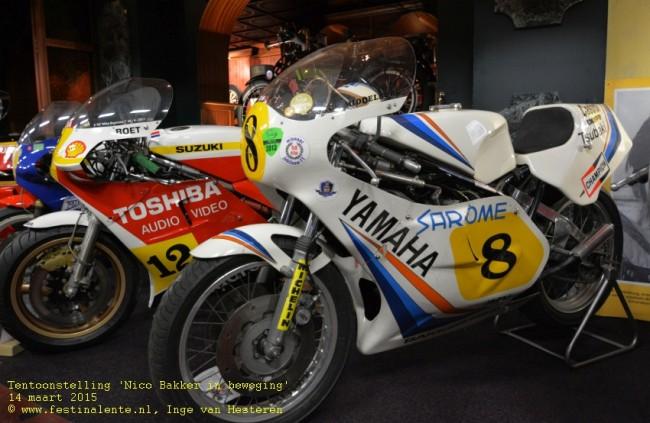 De Suzuki van Den Boet en de Yamaha van Jumping Jack.