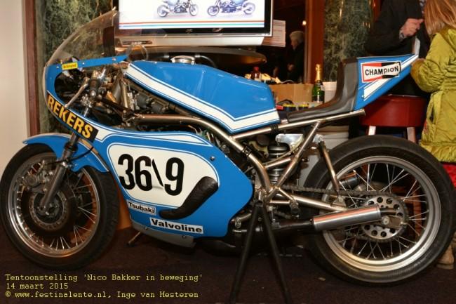 Met deze 750cc Suzuki vertrok Jack Middelburg naar Daytona.