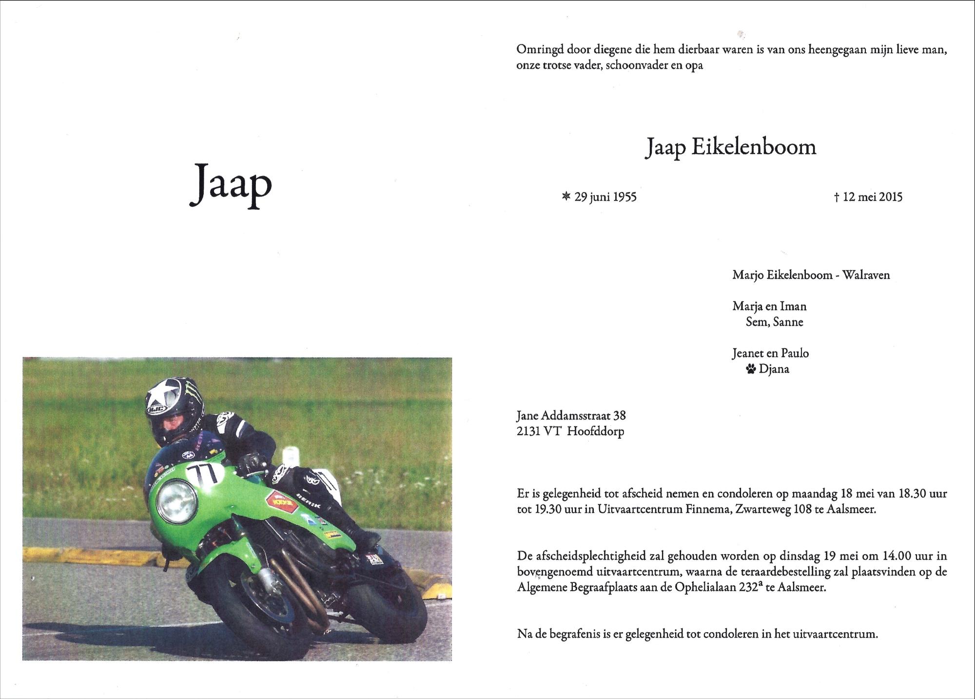 Jaap Eikelenboom bericht brs-2000