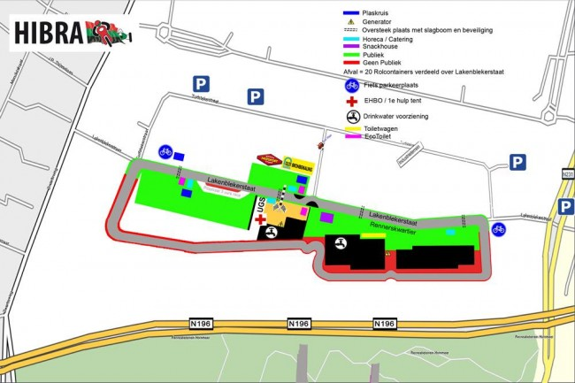 Plattegrond HIBRA-circuit 2015