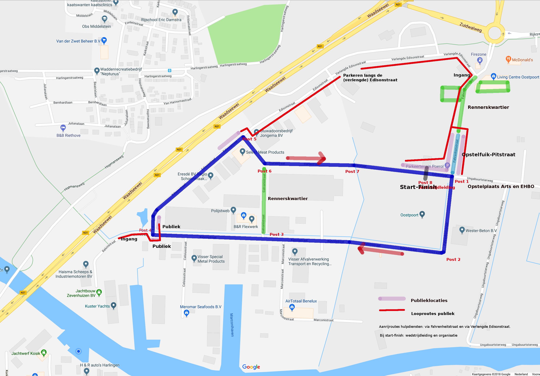 Plattegrond circuit Oostpoort