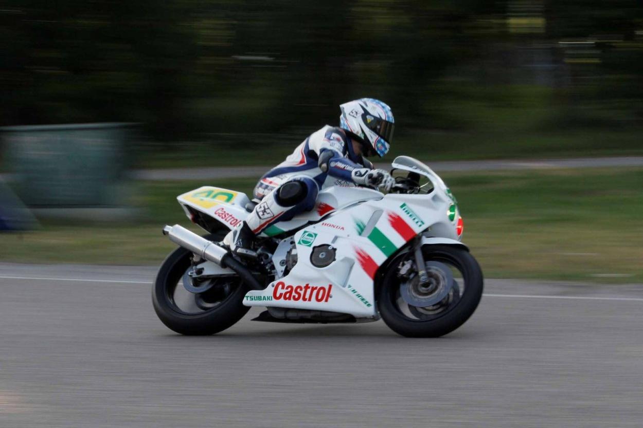 Paul Klopp, uit de USA. Hij vervult een bestuursfunctie in de Amerikaanse classic racescene. Foto Raymond Brouwer.